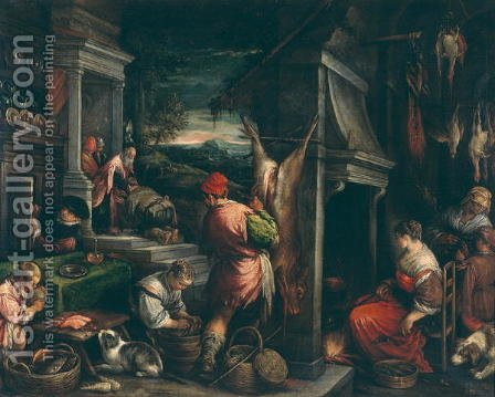The Return of the Prodigal Son by Jacopo Bassano (Jacopo da Ponte) - Reproduction Oil Painting