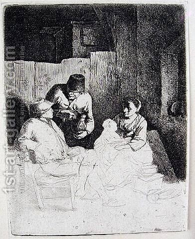 The Mother Seated in an Inn by Cornelis (Pietersz.) Bega - Reproduction Oil Painting