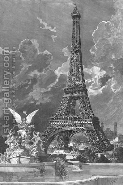 The Eiffel Tower  (1887-89) by Albert Bellenger - Reproduction Oil Painting