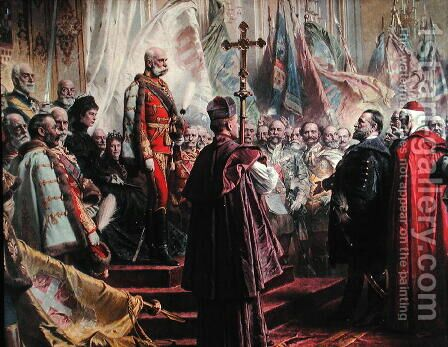 Emperor Franz Joseph I by Gyula Benczur - Reproduction Oil Painting