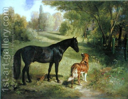 The two friends by Adam Benno - Reproduction Oil Painting