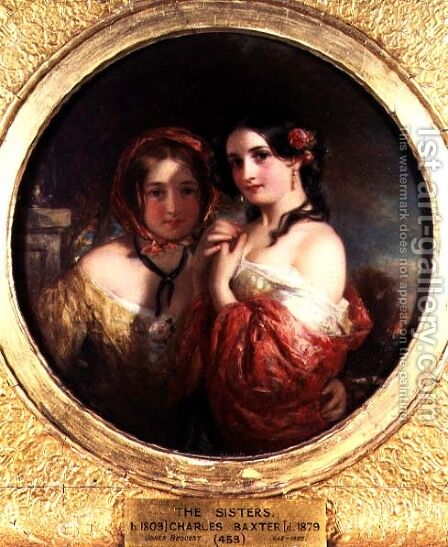The Sisters by Charles Baxter - Reproduction Oil Painting