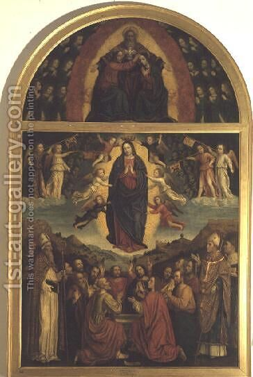 The Assumption by Bernadino Bergognone - Reproduction Oil Painting