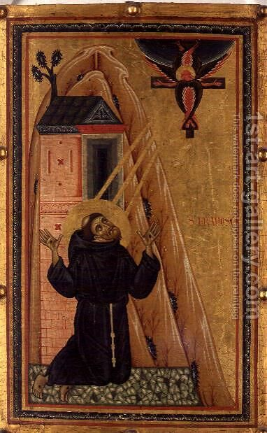 The Stigmata of St. Francis by Bonaventura Berlinghieri - Reproduction Oil Painting