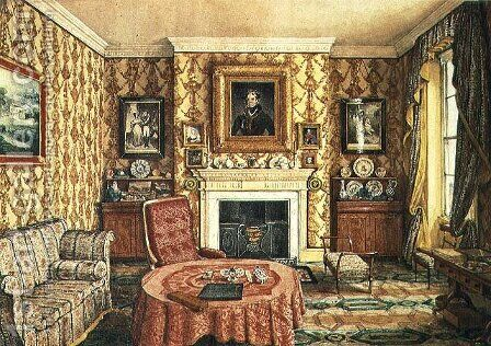 Our Drawing Room at York by Mary Ellen Best - Reproduction Oil Painting
