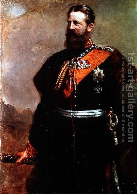 Friedrich III by Gottlieb Biermann - Reproduction Oil Painting