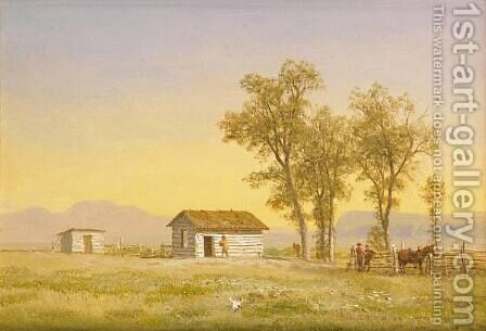 Homestead in the Rocky Mountains 1863 by Albert Bierstadt - Reproduction Oil Painting