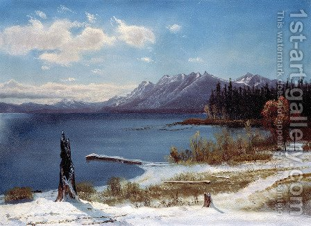 Lake Tahoe by Albert Bierstadt - Reproduction Oil Painting