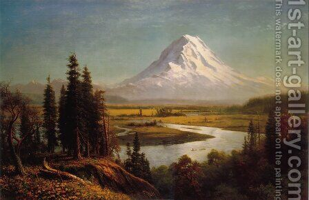 Mount Rainier by Albert Bierstadt - Reproduction Oil Painting