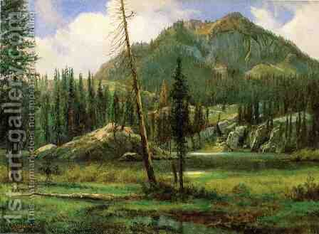 Sierra Nevada Mountains by Albert Bierstadt - Reproduction Oil Painting