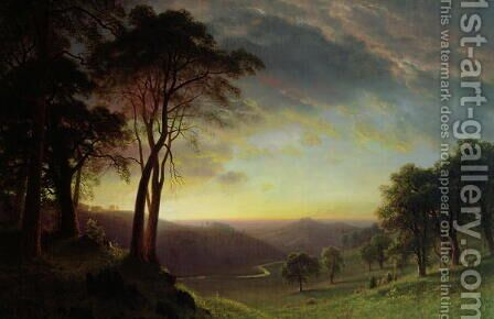 The Sacramento River Valley by Albert Bierstadt - Reproduction Oil Painting