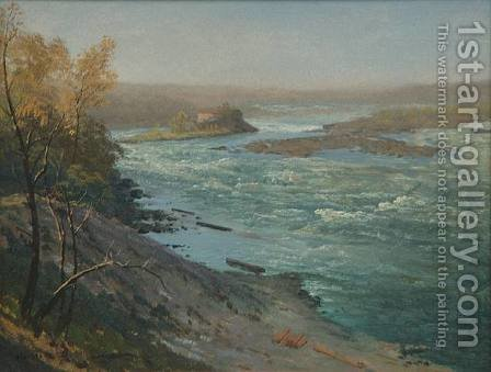 Upper Rapids, Niagara Falls by Albert Bierstadt - Reproduction Oil Painting