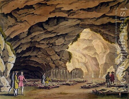 Sepulchral Cavern of the Guances, from 'Le Costume Ancien et Moderne'  c.1820 by Giovanni Bigatti - Reproduction Oil Painting