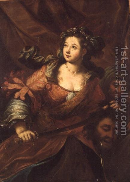 Judith leaving Holofernes tent by Bartolomeo Biscaino - Reproduction Oil Painting