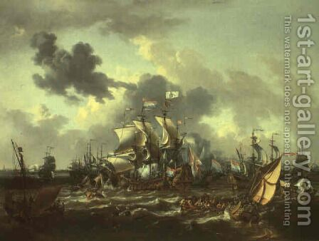 The Battle on the Zuidersee 1573 by Jan Theunisz Blanckerhoff - Reproduction Oil Painting