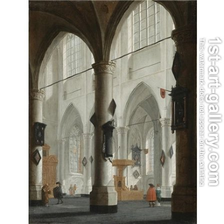 The interior of the Laurenskerk, Rotterdam 1654 by Daniel de Blieck - Reproduction Oil Painting