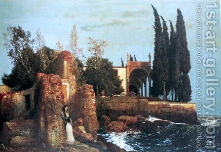 Villa by the Sea, 1878 by Arnold Böcklin - Reproduction Oil Painting