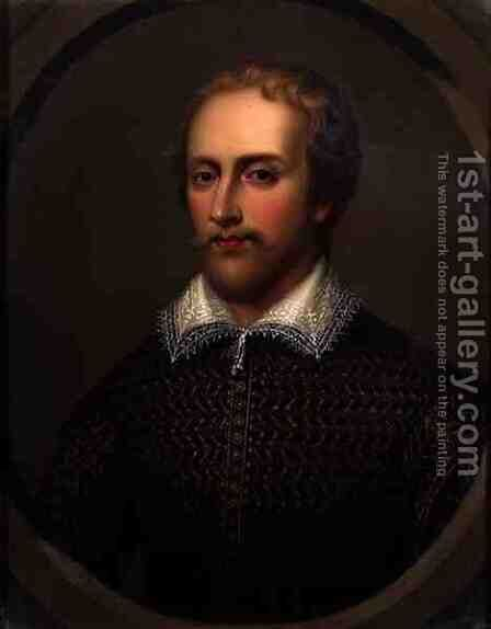 Edmund Spenser by Henry Bone - Reproduction Oil Painting