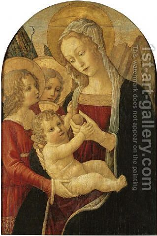 The Madonna and Child with angels by Benedetto Bonfigli - Reproduction Oil Painting