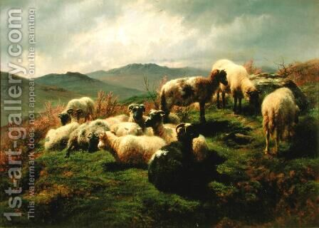 Sheep in the Highlands 1856 by Rosa Bonheur - Reproduction Oil Painting
