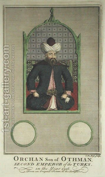 Orkhan Son of Osman, Second Emperor of the Turks in the Year 1326 by C. du Bose - Reproduction Oil Painting