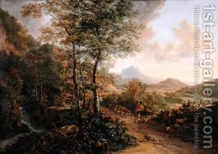 Italian Landscape, c.1637-41 by Jan Both - Reproduction Oil Painting