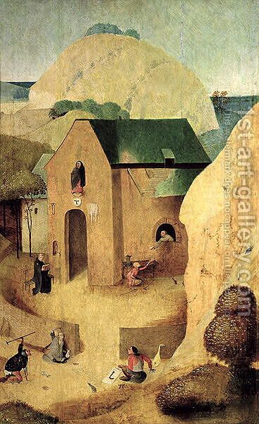An Antonian Priory by Hieronymous Bosch - Reproduction Oil Painting