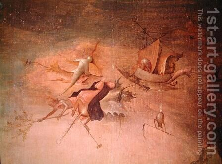 Detail of the left-hand panel, from the Triptych of the Temptation of St. Anthony by Hieronymous Bosch - Reproduction Oil Painting