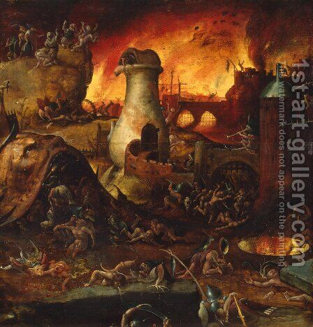 Hell 2 by Hieronymous Bosch - Reproduction Oil Painting