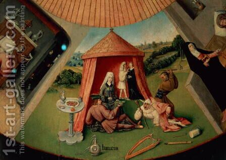 Luxury, detail from The Table of the Seven Deadly Sins and the Four Last Things, c.1480 by Hieronymous Bosch - Reproduction Oil Painting