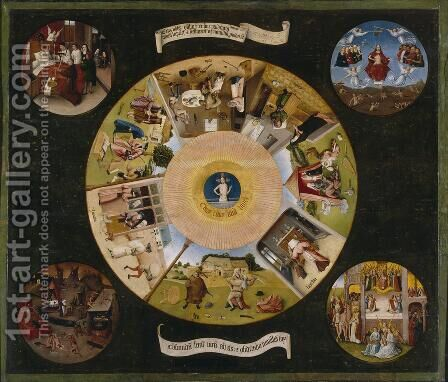 Tabletop of the Seven Deadly Sins and the Four Last Things (1) by Hieronymous Bosch - Reproduction Oil Painting