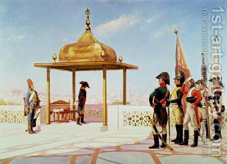 Napoleon in Cairo, 1798 by Gustave Bourgain - Reproduction Oil Painting