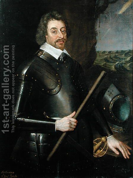 Ferdinando (1584-1647) 2nd Lord Fairfax by Edward Bower - Reproduction Oil Painting