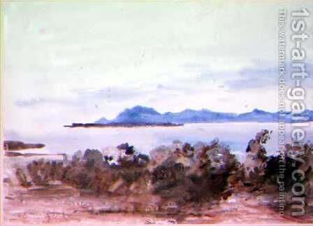 Across the Bay by Hercules Brabazon Brabazon - Reproduction Oil Painting
