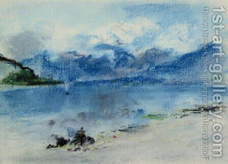 Lake Maggiore, (2) by Hercules Brabazon Brabazon - Reproduction Oil Painting