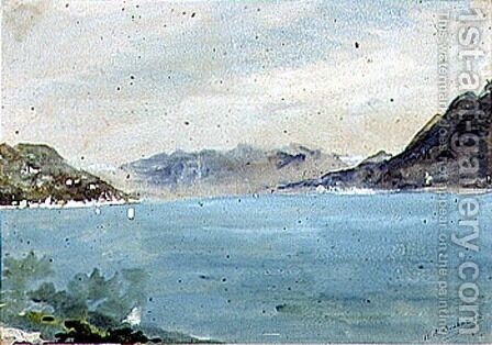 Lake Maggiore by Hercules Brabazon Brabazon - Reproduction Oil Painting