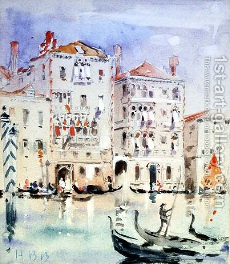 Palazzo Dario, Venice by Hercules Brabazon Brabazon - Reproduction Oil Painting