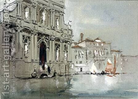Santa Maria del Giglio, Venice by Hercules Brabazon Brabazon - Reproduction Oil Painting