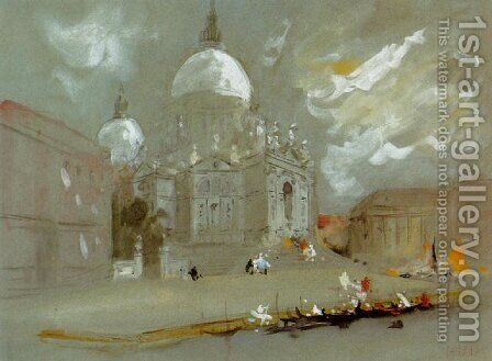 The Church of Santa Maria della Salute, Venice by Hercules Brabazon Brabazon - Reproduction Oil Painting