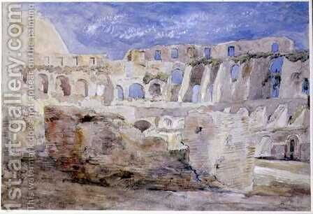 The Colosseum, Rome by Hercules Brabazon Brabazon - Reproduction Oil Painting