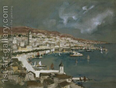 The Harbour of Split, Croatia by Hercules Brabazon Brabazon - Reproduction Oil Painting