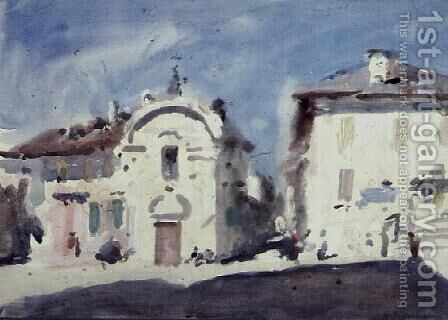White Houses, Varennes by Hercules Brabazon Brabazon - Reproduction Oil Painting