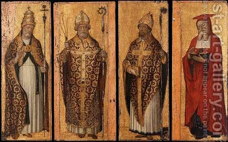 St. Gregory, St. Ambrose, St. Augustine, St. Jerome (Four Doctors of the Church) c.1495 by Carlo di Braccesco - Reproduction Oil Painting