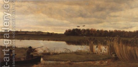 The duck shoot 1880 by Basil Bradley - Reproduction Oil Painting