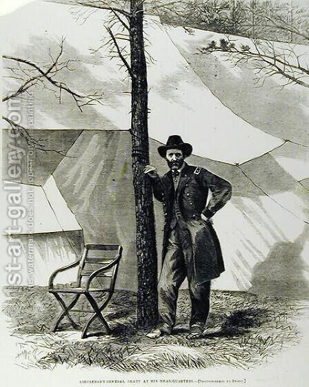 Lieutenant General Ulysses S. Grant, at his Head-Quarters by Mathew Brady - Reproduction Oil Painting