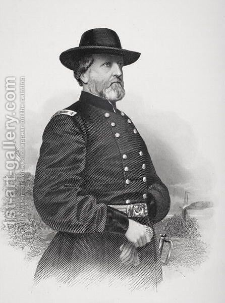 Portrait of General George Henry Thomas by Mathew Brady - Reproduction Oil Painting