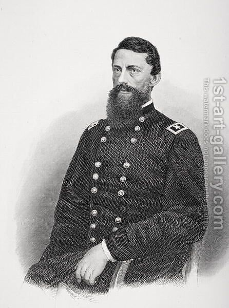 Portrait of George Stoneman by Mathew Brady - Reproduction Oil Painting