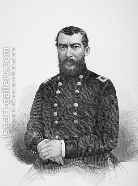 Portrait of Philip Henry Sheridan by Mathew Brady - Reproduction Oil Painting