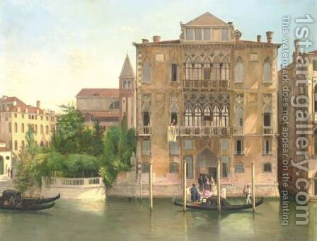 Palazzo Cavalli Franchetti, Venice by Antonietta Brandeis - Reproduction Oil Painting