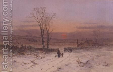 A Winter's Eve by Charles Branwhite - Reproduction Oil Painting